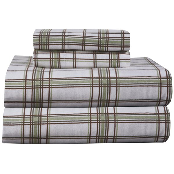 Plaid World Flannel 100 Cotton Sheet Set By Birch Lane Kids.